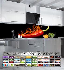 Details zu Küchenrückwand Acrylglas über 500 Motive Spritzschutz  Fliesenspiegel Küche Herd
