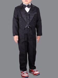 e6bbdb66452cae Das Bild wird geladen 5-tlg-Kinderanzug-Frack-Smoking-festlich-Kinder-Anzug-