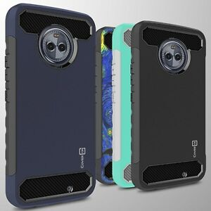 buy online 4e1e2 cade0 For Motorola Moto X4 (X 4th Gen) Case - Hard Armor Cover with Carbon ...