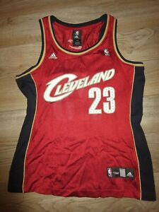 new style 7a8ff a8e1d Details about LeBron James #23 Cleveland Cavaliers Adidas NBA Jersey Womens  S SMALL