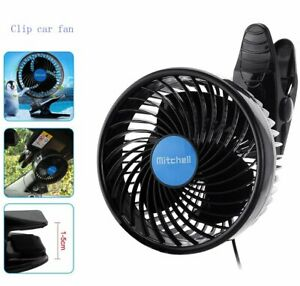 12V Car Air Conditioning Cooling Air Fan  2-Speed Adjustable Silent Cooler