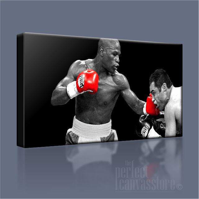 Floyd mayweather v oscar de la hoya emblématique toile art williams imprimé photo art williams art 3a6247