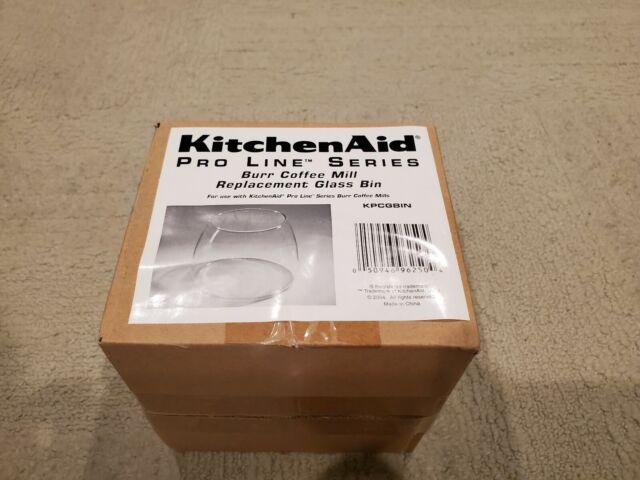 KitchenAid Pro Line Series Burr Coffee Mill Grinder Replacement Glass Jar//Bin