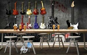 Image Is Loading 3D Graffiti Drum Guitars Instrument Music Wall Murals
