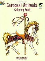 Adults Coloring Book Carousel Animals Images Inspire Stress Relieving Relax Fun