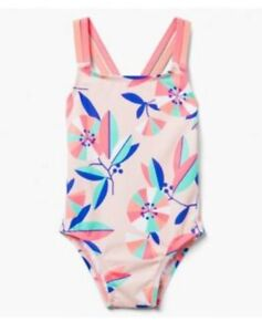 Gymboree Baby Girl's One Piece Swim Suit Pink Blue Coral NWT!