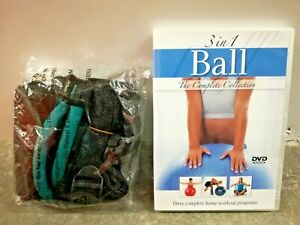 3 In 1 Ball DVD 3 Complete Home Workouts Collection w/ Resistance Band Sealed