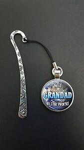 No-1-Grandad-In-The-World-Pendant-On-a-Metal-Design-Bookmark-Birthday-Gift-N27