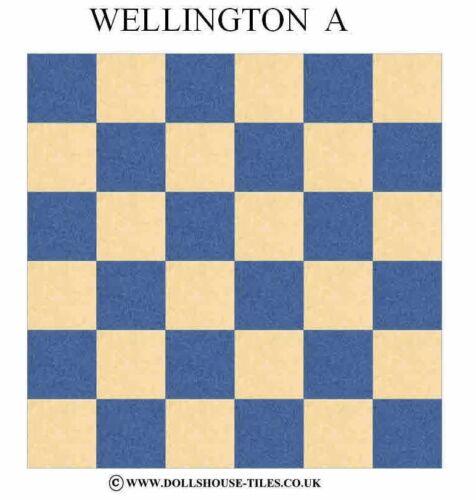 """1/""""FLOOR TILES A DOLLHOUSE FLOORING /& TILES WELLINGTON DOLLHOUSE MINIATURES"""