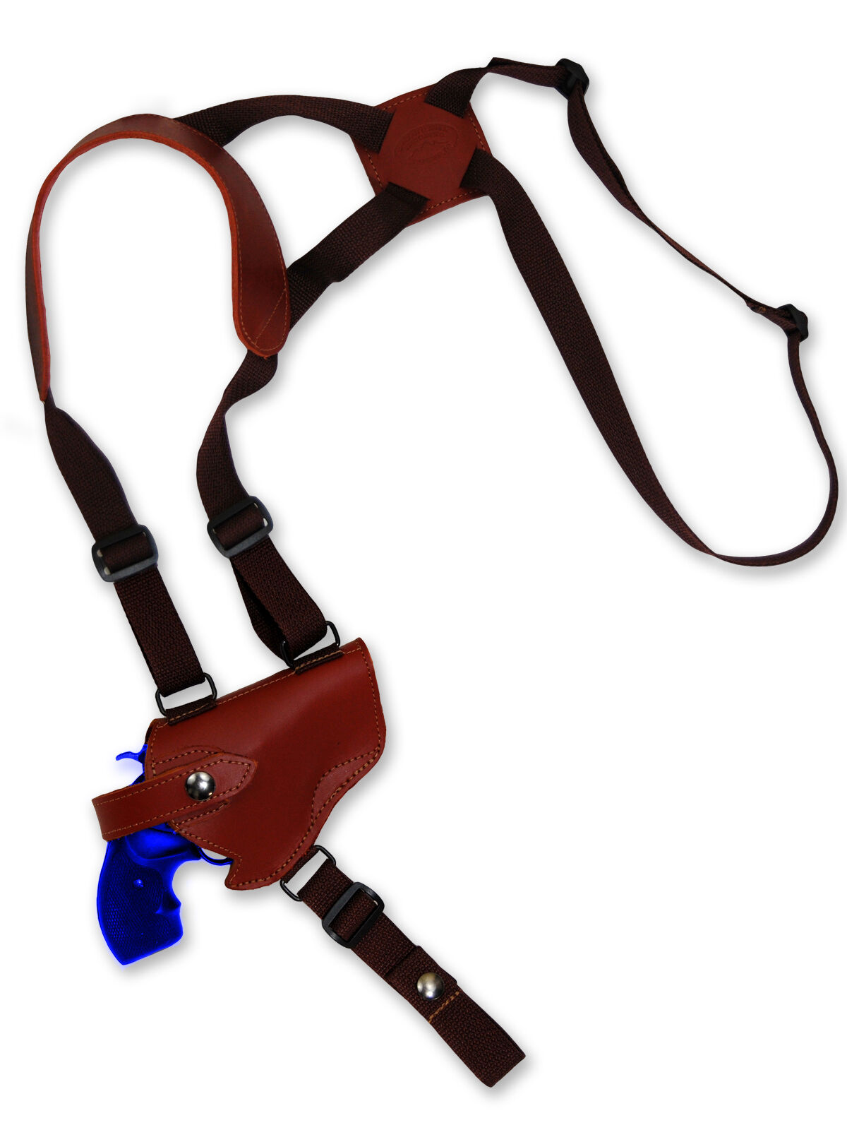 NEW Barsony Burgundy Leder Horizontal Gun Shoulder Holster S&W 2