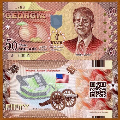 $50 USA States 2014 P-N//L Georgia Polymer ND UNC