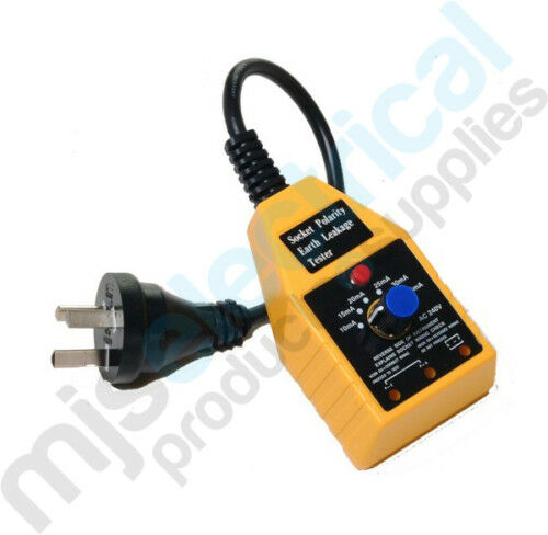 Socket Polarity Earth Leakage Safety Switch Tester RCD RCBO Electrician Tool NEW