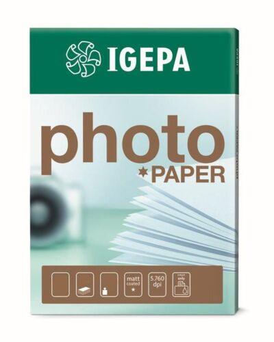 einseitig bedruckbar Matt für Farbinkjet Igepa Fotopapier 170g//m² DIN-A3 100 Bl