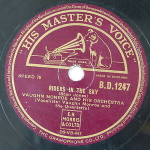 78-record-framed-RIDERS-IN-THE-SKY-RED-ROSES-FOR-A-BLUE-LADY-vaughan-monroe