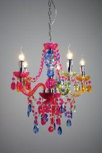 Lampadario 5 luci chandelier design colorato lampada a sospensione moderno 35092 ebay - Lampadari colorati design ...
