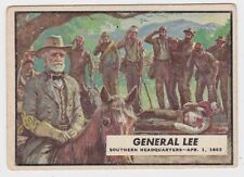 1962 TOPPS CIVIL WAR NEWS CARD #39 GENERAL LEE VISITS WOUNDED SOLDIERS