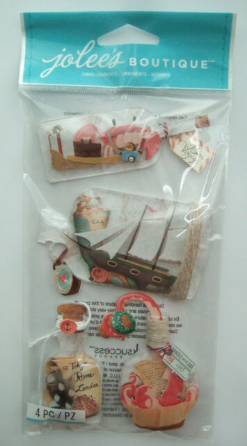 ~MESSAGE IN A BOTTLE~ Jolee's Boutique Dimensional Stickers; Ocean Beach Memory