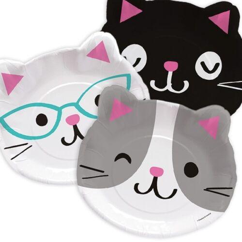 8er PCK gatos form Los gatos fiesta platos 22,8cm