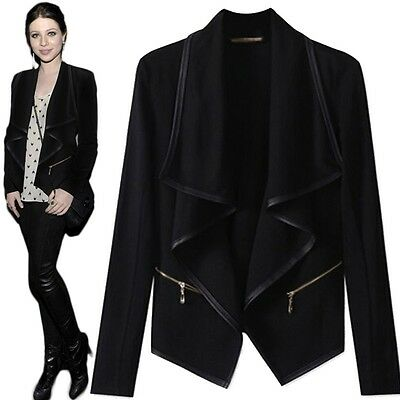 New Women Fashion Winter Trench Coat Long Black Jackets Overcoat Plus Size XS-XL