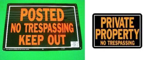 12ea Aluminium propriété privée affiché aucune intrusion Tresspassing Keep Out SIGNE