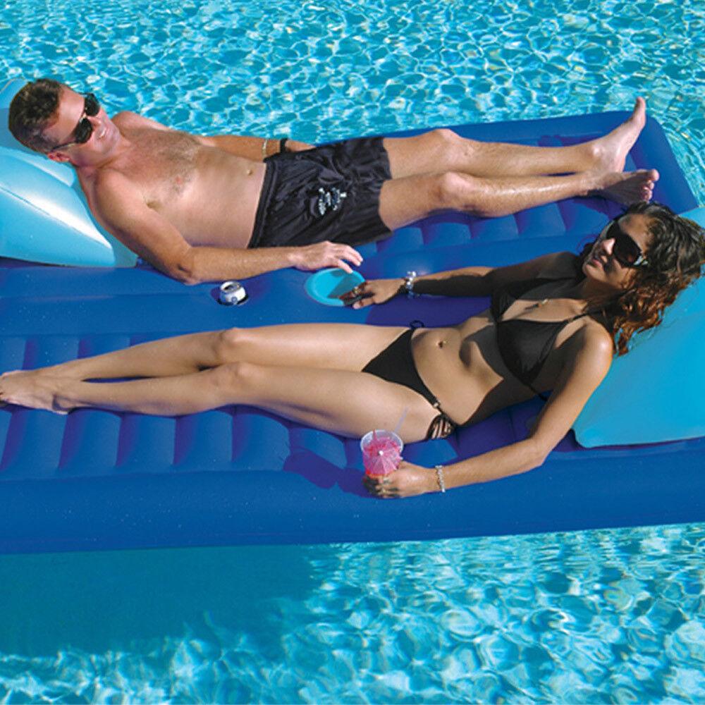 Solsticio 79 L X 65 W piscina lago Cochea - 2-Cochea 2 persona Tumbona Flotar