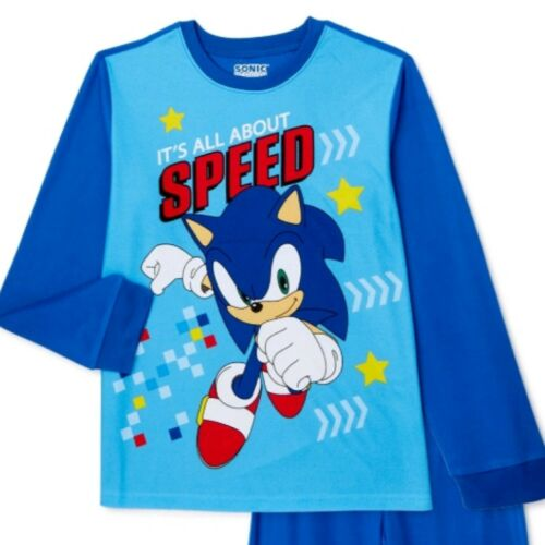 Details about  /New Boy Sega Sonic the Hedgehog Blue Flannel 2 Piece Pj Pajama Sleepwear Set 4//5