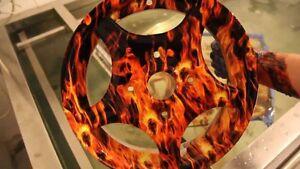 PVA film for water transfer printing Dipping Flaming Skulls Film 0.5m x 1m