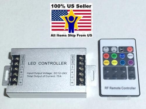 10pcs 12V DC 20Key 75A 900W RF Remot Controller For RGB LED Strip 5050 3528 SMD