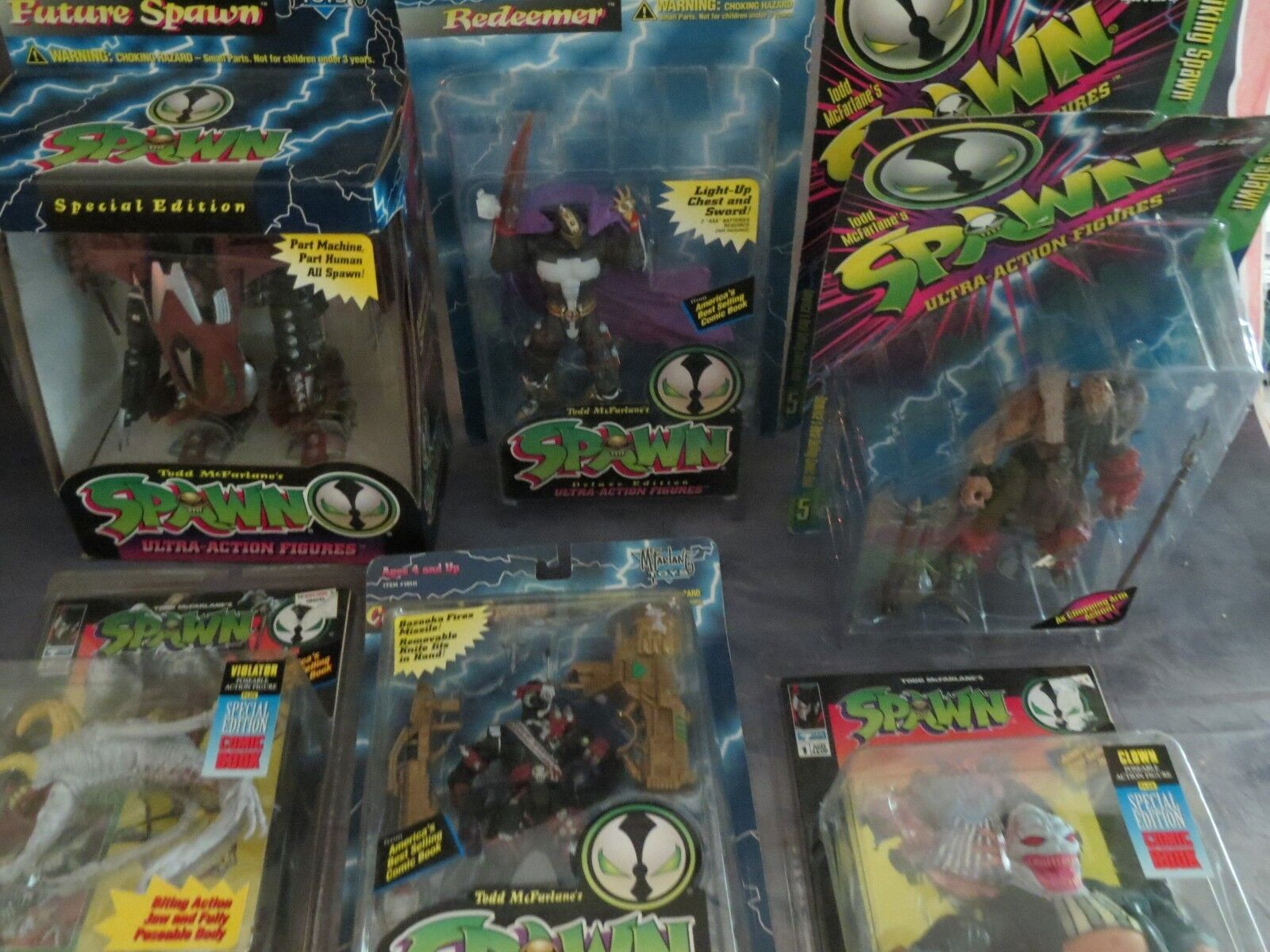 NEW Spawn Wirkung Figure Mixed Masse Of 7 Spielzeugs New Meerled Todd McFarlane's