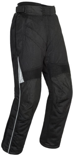 Tourmaster Mens Black Venture Air 2.0 Textile Mesh Motorcycle Pants