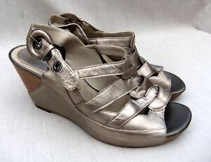 Beech mujer sandalias de de Nuevas Silver cuero cuña Clarks 5 39 6 con para plataforma qXtdwfd