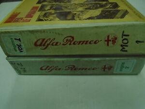 1980s Alfa Romeo Engines Service Repair Manual Factory OEM Books 2 Volume Set **