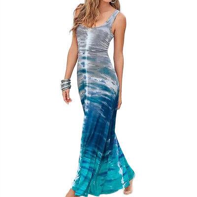 Women's Maxi LONG Dress Beach Summer Boho Dress Evening Party Dresses Sundress