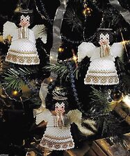 HEAVENLY ANGEL CHRISTMAS TREE ORNAMENTS - PLASTIC CANVAS PATTERNS