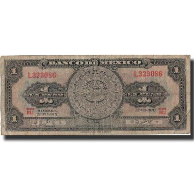 Km:59l Banknote Vf 1 Peso Mexico #572425 20-25 Factory Direct Selling Price 1970-07-22 1970