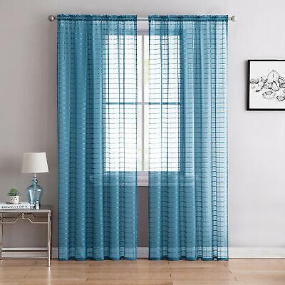 Sheer Rod Pocket Window Curtain Panel