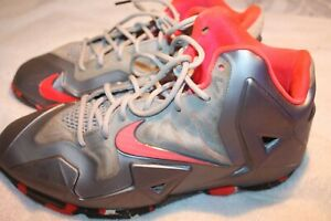 Nike-Lebron-XI-Elite-GS-621712-008-OSU-Miami-Heat-Team-Home-Playoff-Size-7Y