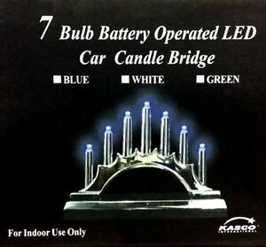 New christmas 7 bulb battery operated led car candle for 7 candle christmas decoration
