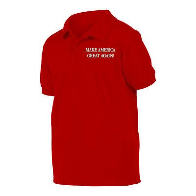 MAGA DONALD TRUMP Red Poloshirt Polo shirt MAKE AMERICA GREAT AGAIN