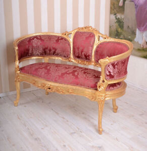 Sofa-barroco-rojo-Banco-ANTIGUO-Sofa-Sofa-ACOLCHADO-Sofa-Barroco-Dos-Plazas