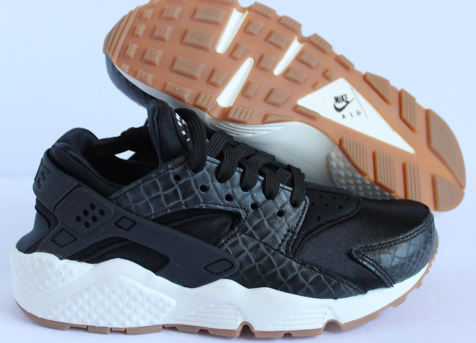 Mujeres Nike Air Huarache Run PRM Premium Negro-Vela-Goma Negro-Vela-Goma Negro-Vela-Goma Marrón Talla 6  solo cómpralo