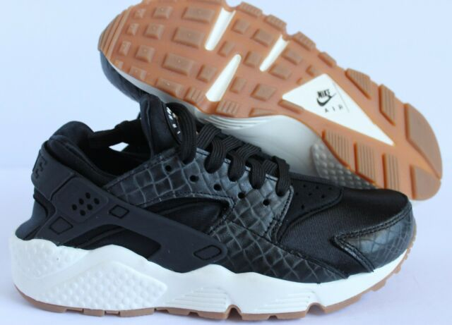 5d11c4c15115 ... clearance nike women air huarache run prm premium black sail gum brown  sz 6 0a487 868bf