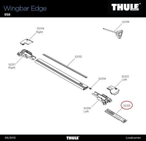 STRAP Edge Lprr 958 für Wingbar Edge 4er Set Haltebänder