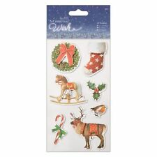 Docrafts Papermania 3D Stickers (7pcs) - A Christmas Wish