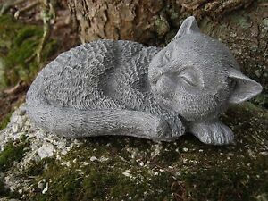Image Is Loading Cat Statue Concrete Cat Figure Garden Cat Statues