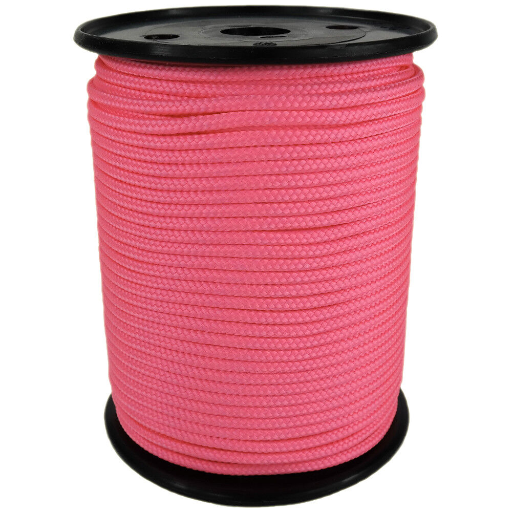 Polypropylene Rope PP 5mm 100m Pinkish (4028) Braided