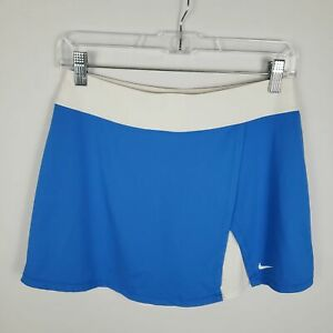 Nike-Dri-Fit-Athletic-Skirt-Skort-Size-XL-Blue-and-White