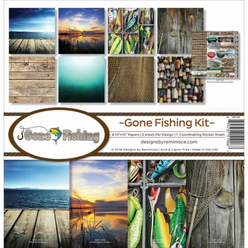 """Reminisce Collection Kit 12/""""X12/""""-Gone Fishing GOF200"""