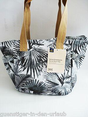 TCM Tchibo Strandtasche Canvas Tasche Urlaubstasche Shopper Freizeittasche