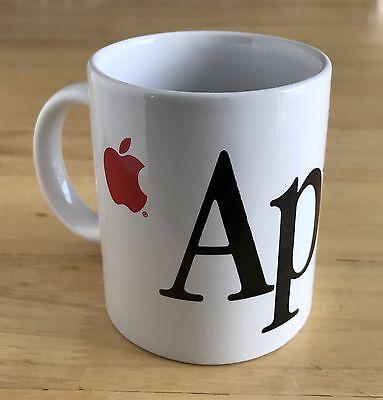 Vintage Apple Computer Ceramic Coffee Mac Mug Red Logo Collectible Ebay